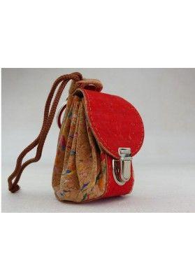Mini Rucksack aus Kork / Rio - Schlüsselanhänger