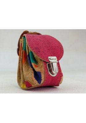 Mini Rucksack aus Kork / Samba - Schlüsselanhänger