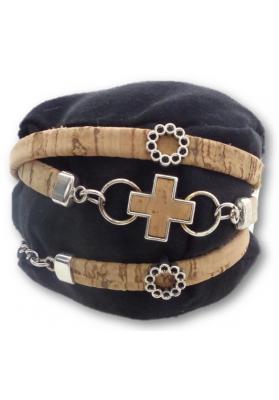 Wickelarmband aus Kork mit viel Charme - Schmuck