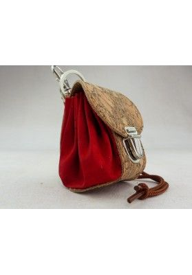 Mini Rucksack aus Kork / Rot - Schlüsselanhänger
