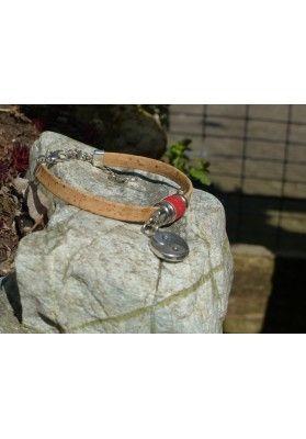 Glücksbringer Armband aus Kork - Schmuck