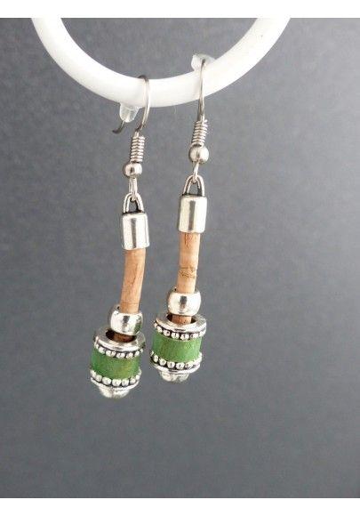 Ohrhänger aus Kork im Pendel Design - Schmuck