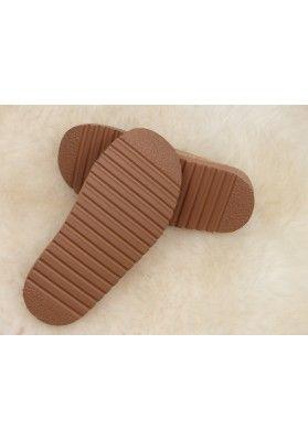 Hausschuhe Pantoffeln Naturkork  mit Fell - Hausschuhe