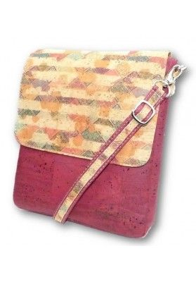 Kompakte Überwurftasche Bedruckt - Korktaschen