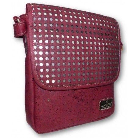 Kompakte Überwurftasche (Lasercut Dots) - Korktaschen
