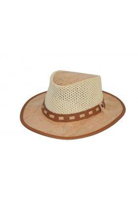 Cowboyhut mit Netzeinsatz - Korkhüte