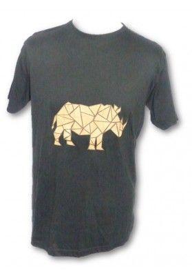 T-Shirt - Korkapplikation Nashorn - Bekleidung