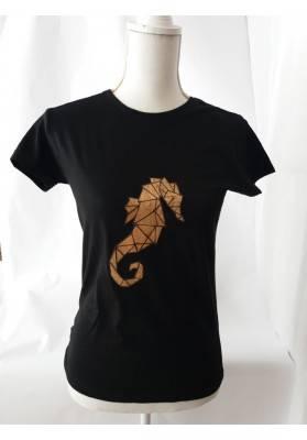 T-Shirt - Korkapplikation Seepferd - Bekleidung