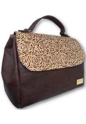 Individuelle-Handtasche-Rosen-Lasercut - Korktaschen
