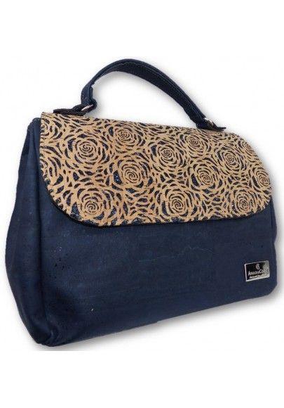 Individuelle Handtasche Rosen Lasercut - Korktaschen
