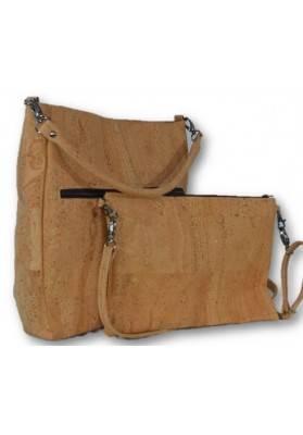Bag in Bag in Safari Look - Korktaschen