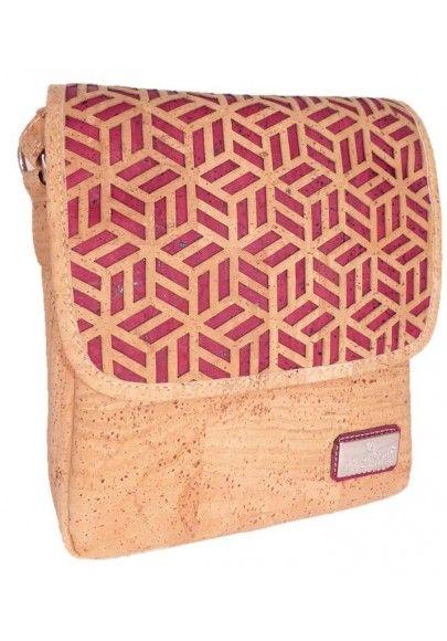 Kompakte Überwurftasche Naturkork - Korktaschen