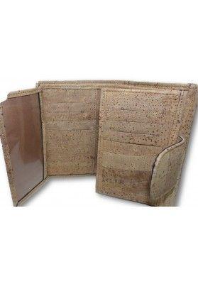 Klassische Damengeldbörse aus Kork - Geldbeutel
