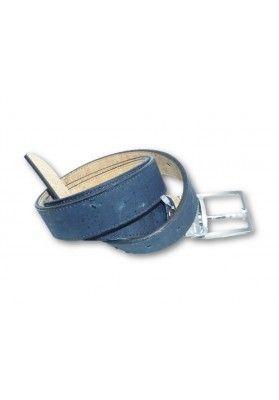 Wende Korkgürtel 3 cm Breit Deep Blue - Herrenaccessoires