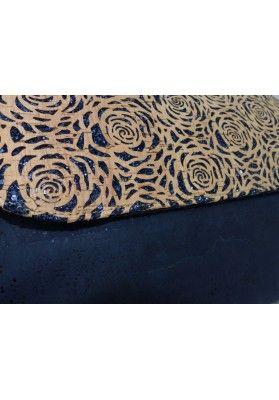 Designer Individuelle Handtasche Rosen Lasercut - Korktaschen