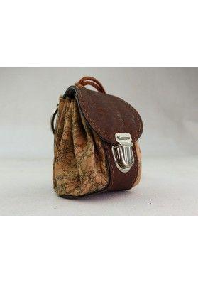 Mini Rucksack aus Kork / Korkmarmor - Schlüsselanhänger