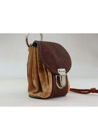 Mini Rucksack aus Kork / Natur - Schlüsselanhänger
